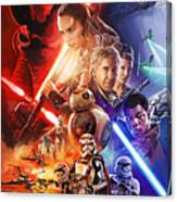 Star Wars The Force Awakens Artwork Canvas Print