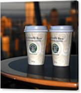 Starbucks At The Top Canvas Print