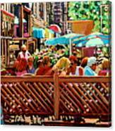 Starbucks Cafe On Monkland Montreal Cityscene Canvas Print