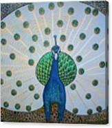 Starbucks Peacock  Canvas Print