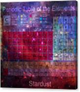 Stardust Periodic Table Canvas Print