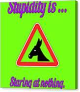 Staring Bigstock Donkey 171252860 Canvas Print
