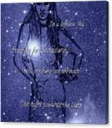 Starlight Of Space And Time 4 Canvas Print