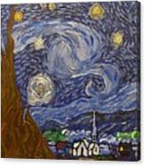 Starry Night - An Ode To Vincent Canvas Print