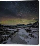 Starry Night In Iceland Canvas Print