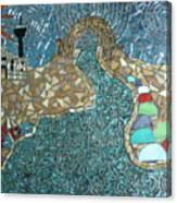 Starry Riverwalk Canvas Print