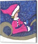 Starry Sleigh Ride Canvas Print