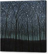 Starry Trees Canvas Print