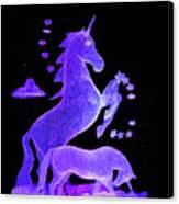 Starry Unicorns Canvas Print