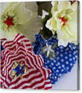 Stars And Stripes Bouquet Canvas Print