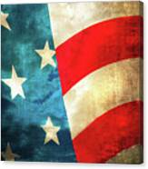 Stars And Stripes Curved Canvas Print