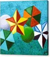 Stars Circles And Hexagons Canvas Print