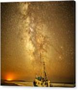 Stars Over Fishing Boat Canvas Print