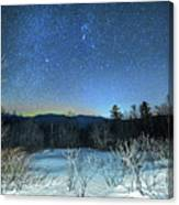 Stars Over The New Hampshire White Mountains Canvas Print