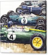 1963 Start British Gp  - Lotus  Brabham  Brm  Brabham Canvas Print