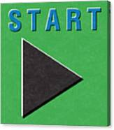 Start Button Canvas Print