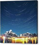 Startrails Above Reine Canvas Print