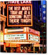 State-lake Theater Canvas Print