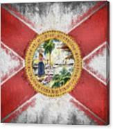 State Of Florida Flag Canvas Print