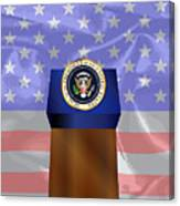 State Of The Union Podium Canvas Print