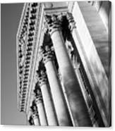 Stately Colonnade Canvas Print