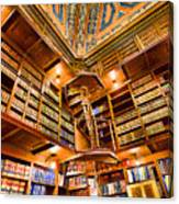Stately Library Canvas Print