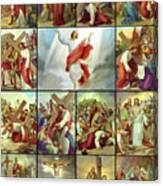 Stations Of The Cross Canvas Print