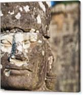 Statue At Angkor Thom Canvas Print