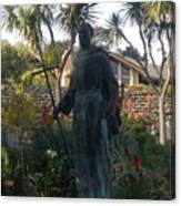 Statue At Mission Carmel Canvas Print
