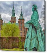Statue At Rosenborg Castle Canvas Print