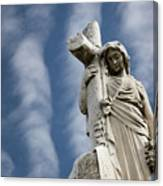 Statue Cross Canvas Print
