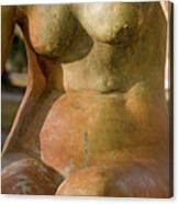 Statue In The Nude Canvas Print