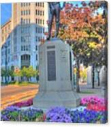 Statue In The Square Canvas Print