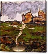 Statue Of A Zombie 2 Canvas Print