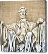 Statue Of Abraham Lincoln - Lincoln Memorial #3 Canvas Print
