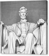 Statue Of Abraham Lincoln - Lincoln Memorial #4 Canvas Print