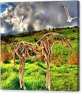 Statue Of Branches 3 Canvas Print