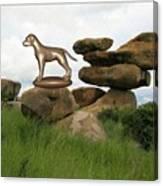 Statue Of Dog Canvas Print