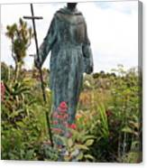 Statue Of Father Serra At Carmel Mission Canvas Print
