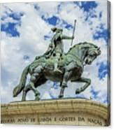 Statue Of King John I Lisbon Canvas Print
