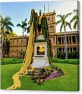 Statue Of, King Kamehameha The Great Canvas Print