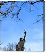 Statue Of Liberty Back View  Canvas Print