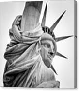 Statue Of Liberty, Lateral Portrait Canvas Print