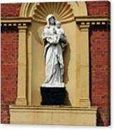 Statue Of Mother And Child Canvas Print