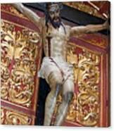 Statue Of The Crucifixion Inside The Catedral De Cordoba Canvas Print