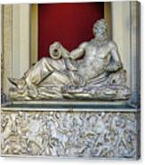 Statue Of The Greek River God Tiberinus At The Vatican Museum Canvas Print