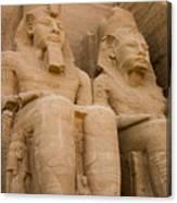 Statues At Abu Simbel Canvas Print