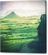 Statues Of Easter Island Canvas Print