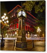 Steam Clock In Historic Gastown Vancouver Bc Canvas Print