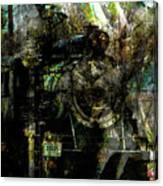 Steam Engine At Bay Canvas Print